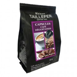 Capsules L'AUTHENTIQUE CAFE DEGUSTATION compatibles Nespresso ® Maison TAILLEFER