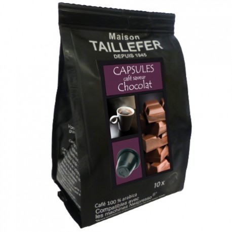 Maison TAILLEFER capsules compatibles Nespresso ® arôme Chocolat