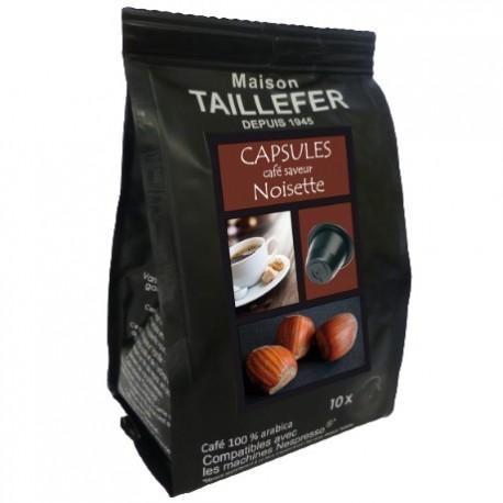 Maison TAILLEFER capsules compatibles Nespresso ® arôme Noisette