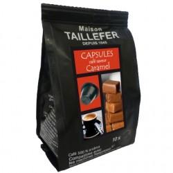 Capsules compatibles Nespresso ® arôme Caramel Taillefer