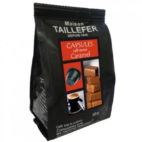 Maison TAILLEFER capsules compatibles Nespresso ® arôme Caramel
