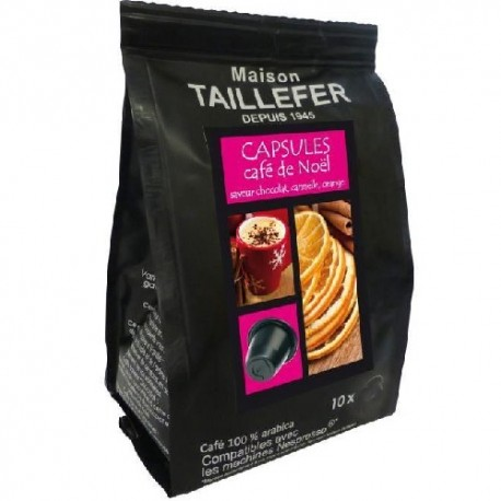 Toffee flavour by Maison TAILLEFER Nespresso® compatible capsules.