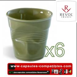 Lot de 6 tasses espresso REVOL froissées couleur savane