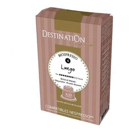 Capsules Biospresso compatibles Nespresso ® Grands Crus Bio de Destination