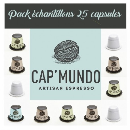 Echantillons capsules Cap Mundo compatibles Nespresso ®