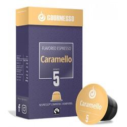 Capsules arôme Caramel compatibles Nespresso ® de Gourmesso
