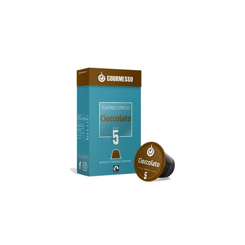 capsules aromatis es au chocolat pour nespresso de gourmesso. Black Bedroom Furniture Sets. Home Design Ideas