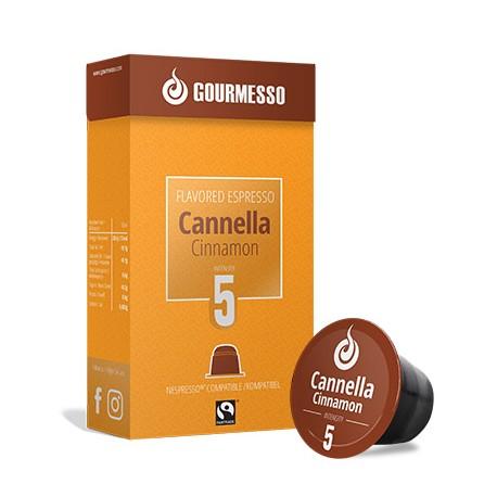 Capsules arôme Cannelle compatibles Nespresso ® de Gourmesso
