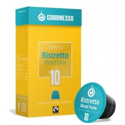 Ristretto Forte capsules Gourmesso compatibles Nespresso ®