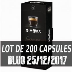 Cremoso Capsules Nespresso compatible Gimoka