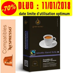 Lot de 30 Ristretto Forte capsules Gourmesso compatibles Nespresso ®