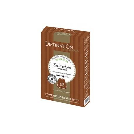 Capsules Biospresso compatibles Nespresso ® Pur Arabica de Destination