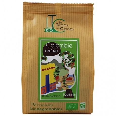 Capsules Colombie Bio compatibles Nespresso ® Le Temps des Cerises