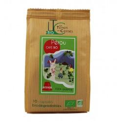 Capsules Pérou Bio compatibles Nespresso ® compostable, Le Temps des Cerises