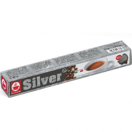 Sylver Nespresso ® compatible capsules by Caffè Bonini in tube