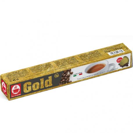 Gold capsules compatibles Nespresso ® de Caffè Bonini en tube