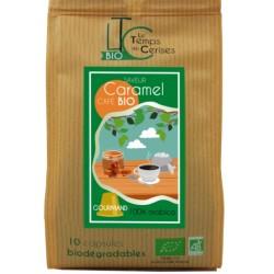 Capsules Saveur Caramel compatibles Nespresso ® bio compostable, Le Temps des Cerises