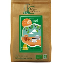 Nespresso ® compatible compostable flavored hazelnut capsules, Le Temps des Cerises