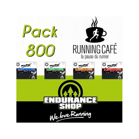Pack Running Café 800 capsules RELIEF compatibles Nespresso ®