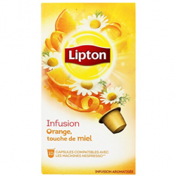 Nespresso ® Compatible Lipton Infusion Capsules Orange