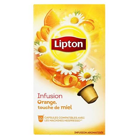 Capsules d'Infusion Orange Lipton compatibles Nespresso ®