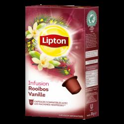 Rooibos Vanilla Lipton Infusion Capsules compatible Nespresso ®