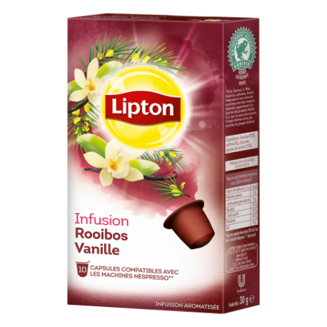 Capsules d'Infusion Rooibos vanille Lipton compatibles Nespresso ®