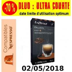 Lot de 50 Capsules de café arôme Chocolat compatibles Nespresso ® Caffesso