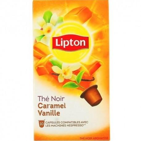 Capsules Thé Noir Caramel Vanille Lipton compatibles Nespresso ®