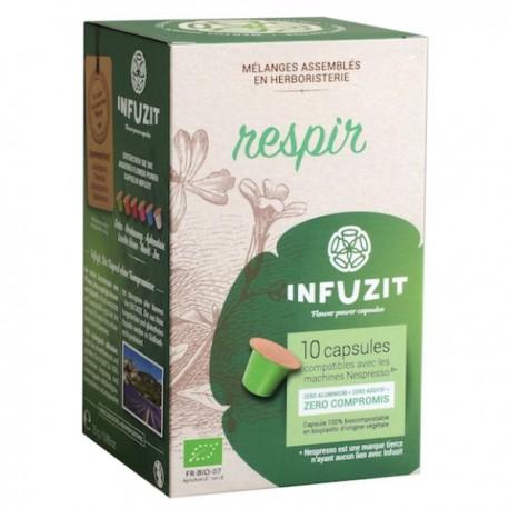 Infuzit Respir, capsules compatibles Nespresso ®