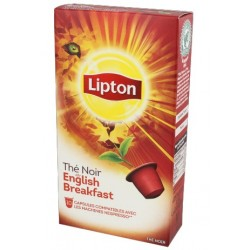 Black Tea Capsules English Breakfast Lipton compatible Nespresso ®