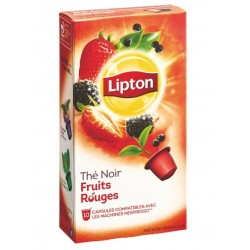 Capsules Thé Noir fruits rouges Lipton compatibles Nespresso ®