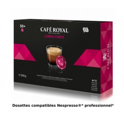 Capsules Café Royal LUNGO FORTE compatibles Nespresso ® PRO