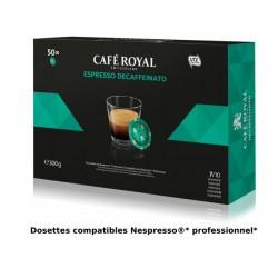 Capsules Café Royal Espresso Decaffeinato compatibles Nespresso ® PRO