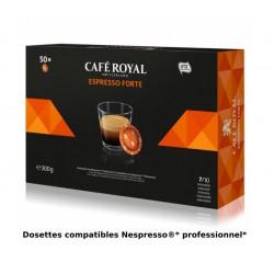 Capsules Café Royal Espresso Forte compatibles Nespresso ® PRO