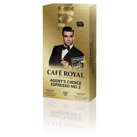 Capsules Café Royal AGENT'S CHOICE ESPRESSO N0.2 compatibles Nespresso ®