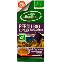 Capsules Bio Pérou compatibles Nespresso ® Le Bonifieur
