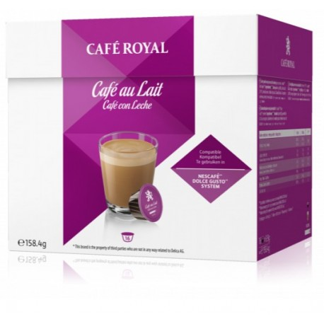 Capsules Café Royal Café au Lait compatibles Dolce Gusto ®
