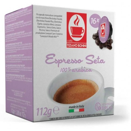 Capsules Seta compatibles Lavazza A Modo Mio ® de chez Caffè Bonini