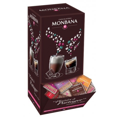 200 Napolitains chocolat noir MONBANA 70% cacao min