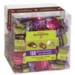 Maxi Box Turbinés du chocolatier Monbana, assortiment de 150 gourmandises.