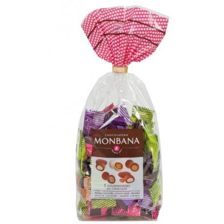Sachet cristal de 50 gourmandises chocolat Monbana
