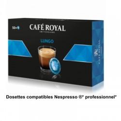 Dosettes Café Royal Lungo compatibles Nespresso ® PRO