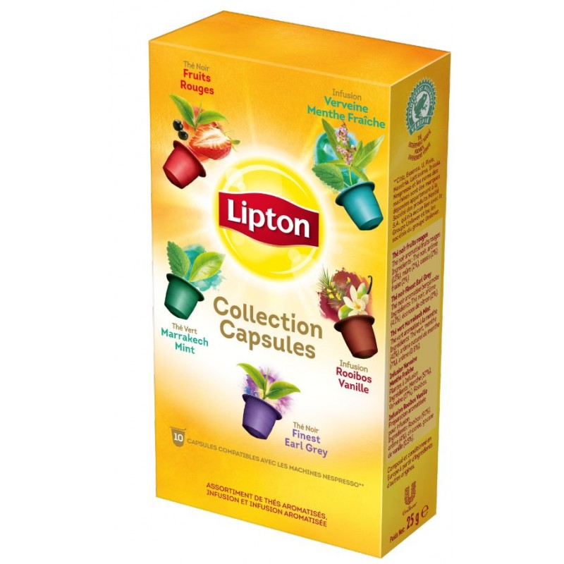 lipton collection de capsules compatibles nespresso