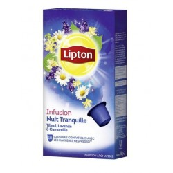 Nespresso ® Compatible Lipton Capsules Infusion night Tranquil.