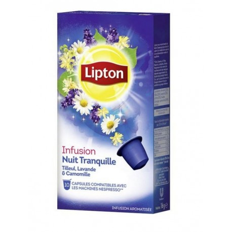 Capsules d'Infusion Nuit tranquille Lipton compatibles Nespresso ®