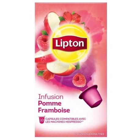 Capsules lipton pomme framboise
