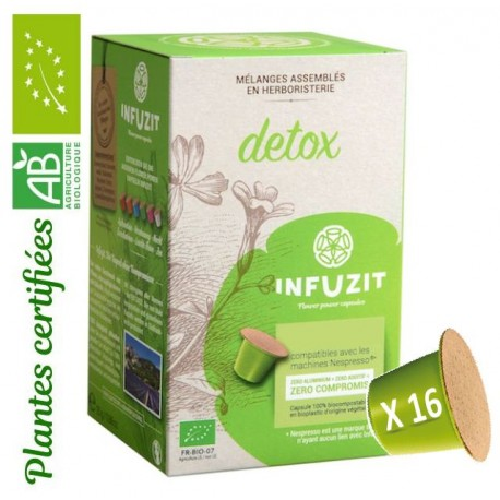 Infuzit Detox, capsules compatibles Nespresso ®