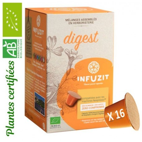 Infuzit Digest, capsules compatibles Nespresso ®