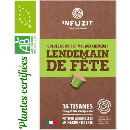 Infuzit Day after party, Nespresso ® compatible capsules